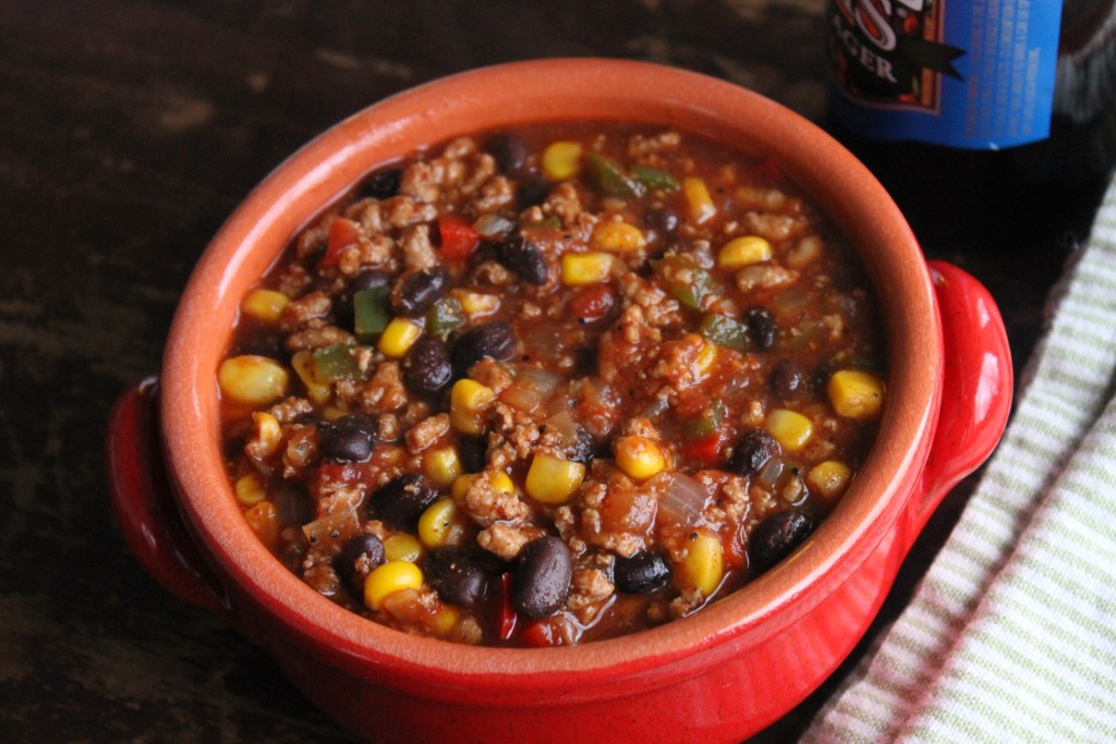 Quick & Healthy Indian Summer Chili is easy to make ahead and freeze! {Brittany's Pantry}