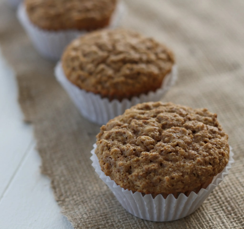 Honey Bran Muffins are a sweet and healthy baked bread! {Brittany's Pantry}