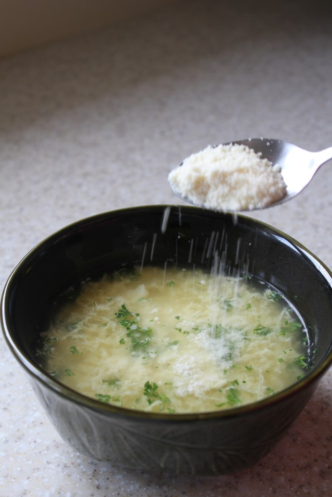 Quick Egg Ribbon Soup is a comforting, last minute meal! {Brittany's Pantry}