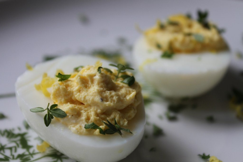 Lemon & Herb Deviled Eggs | Brittany's Pantry - A great twist on a classic appetizer!