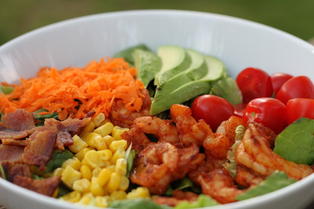 Shrimp Cobb Salad | Brittany's Pantry - A healthy meal on one plate!