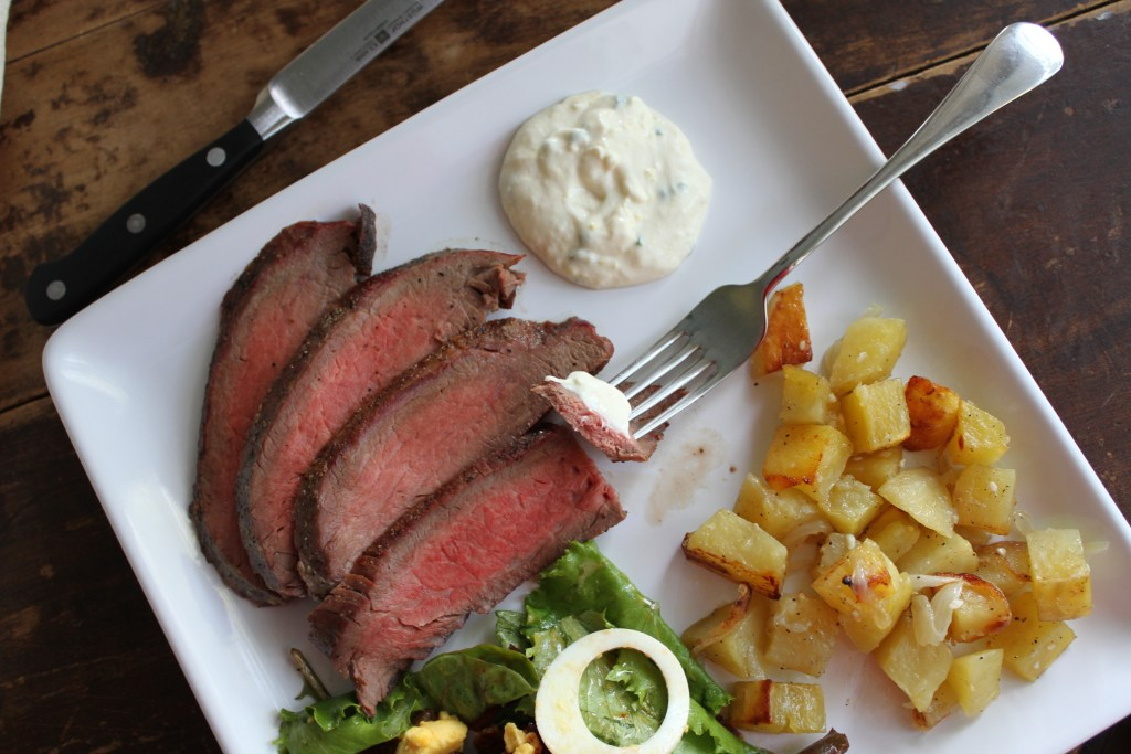 Flank Steak W/Tangy Sauce