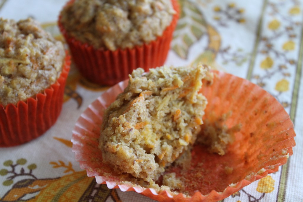 Gluten Free Apple Carrot Muffins