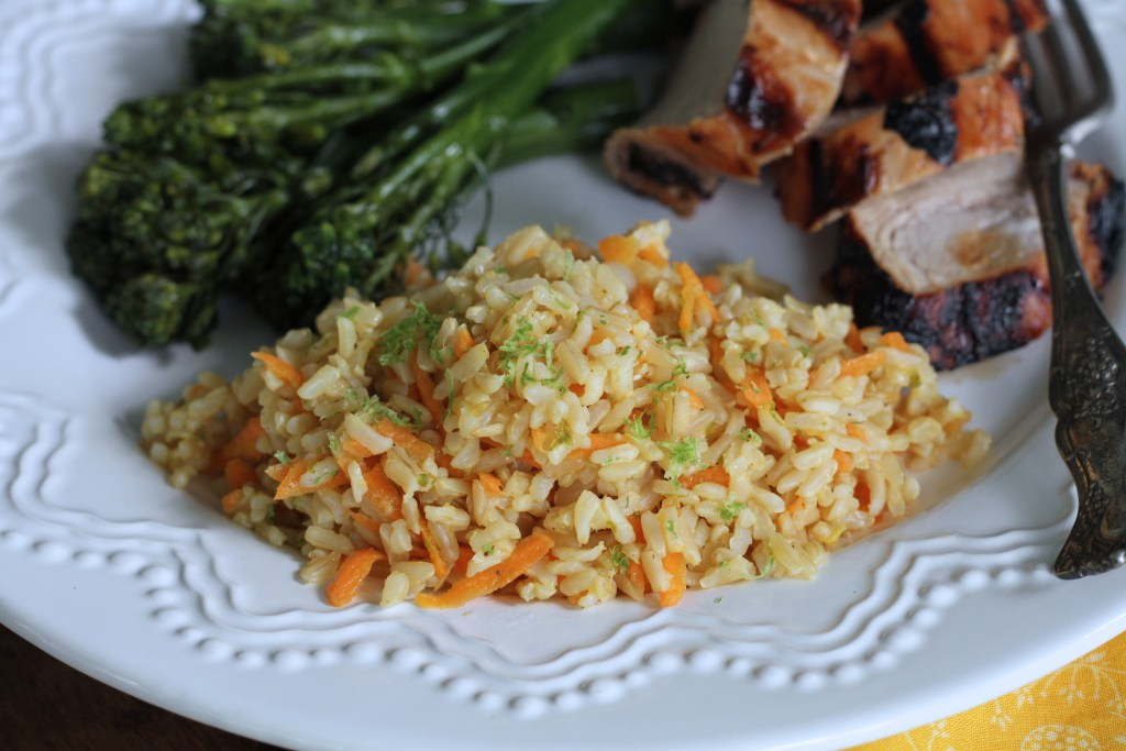 Carrot & Ginger Rice W/Lime