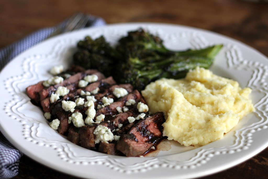Steak with Balsamic Glaze