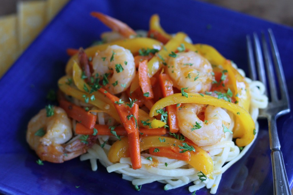 Sweet & Spicy Shrimp via Brittany's Pantry