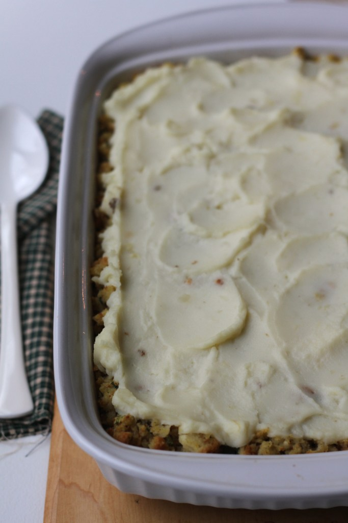 Holiday Shepherd's Pie is made completely from the leftovers of your Thanksgiving or Christmas meal! {Brittany's Pantry}