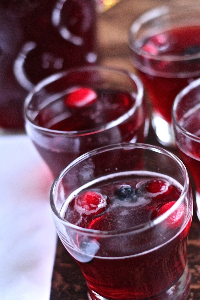 Holiday Punch has an irresistible tangy flavor! Add vodka to make it a cocktail! {Brittany's Pantry}