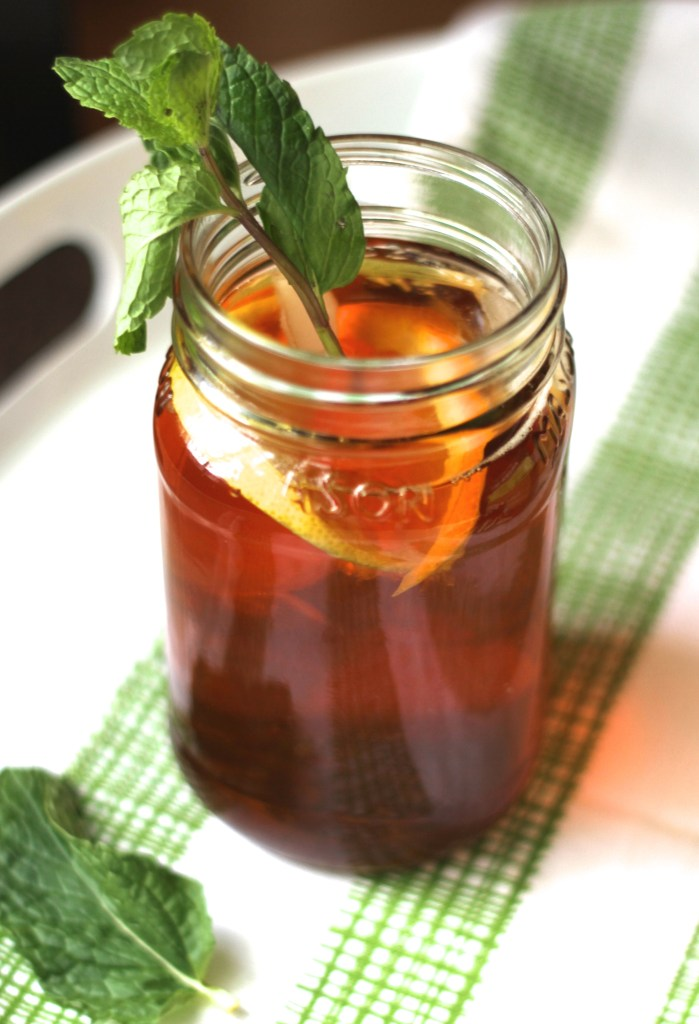 Sweet Citrus Sun Tea is super easy and a fun summer tradition! {Brittany's Pantry}