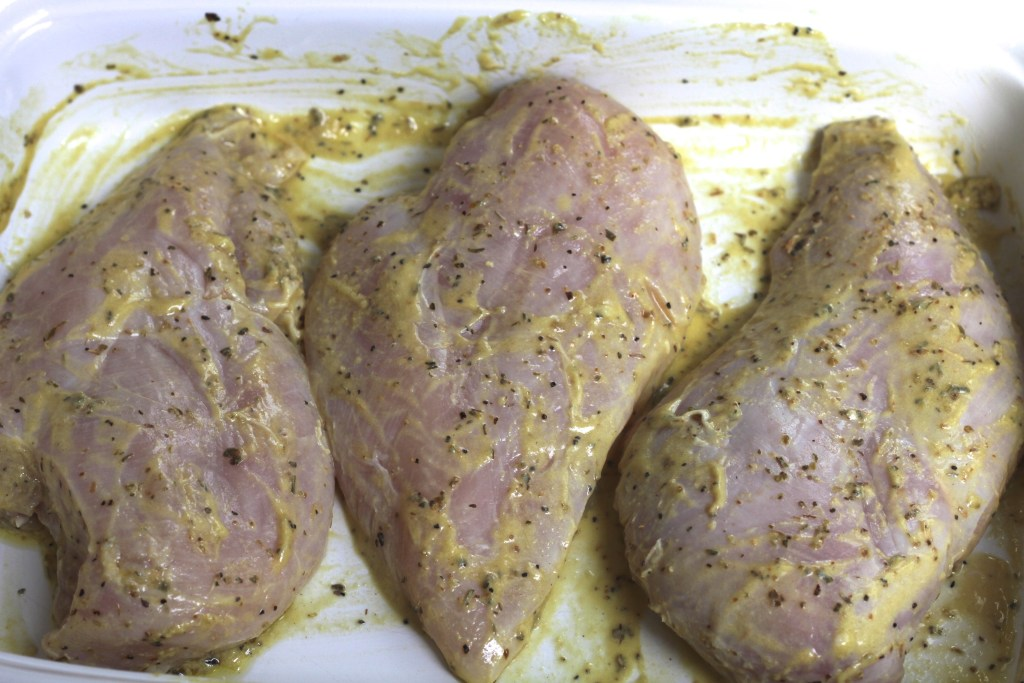 Lemon Mustard Baked Chicken is a wonderfully easy weeknight meal! {Brittany's Pantry}