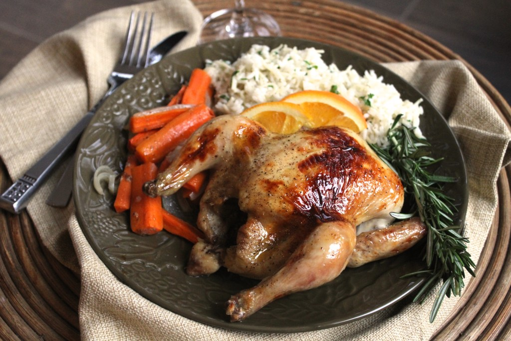 This Rosemary Orange Glazed Cornish Hens are so easy and a fantastic alternative to a big roast at Christmas! {Brittany's Pantry}