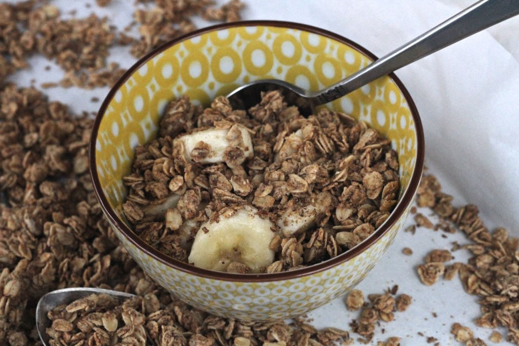 Peanut Butter Powder is what makes this granola so tasty! {Brittany's Pantry}