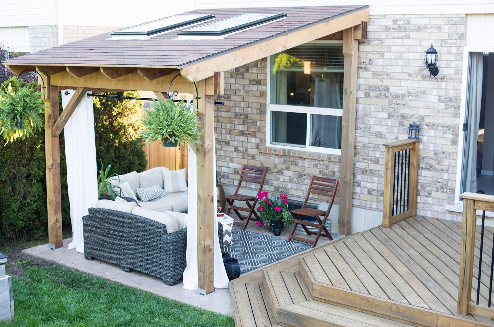 Covered Patio Reveal • Brittany Stager on Covered Back Deck Designs id=95883
