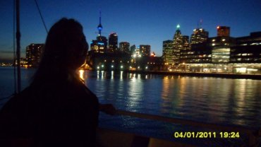 me in front of the Toronto skyline