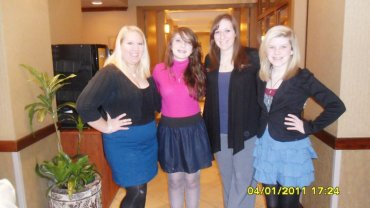 Kelly, Alicha, Becky, and I on the dinner cruise