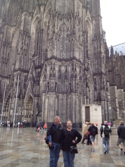 dad and I in front of Cologne Cathedral