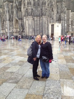 mom and I in front of Cologne Cathdral