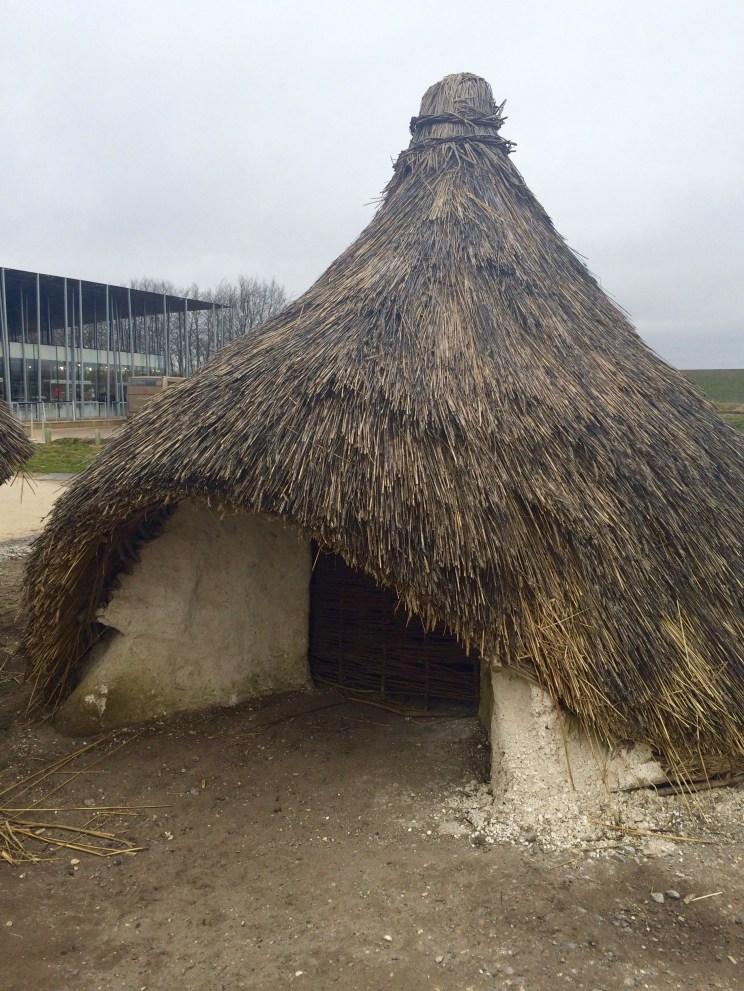 replica Stonehenge huts