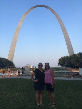 mom and I in front of the Arch