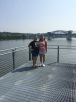 mom and I by the Tennessee River