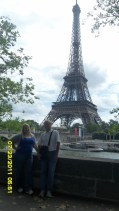 dad and I in front of the Eiffel Tower