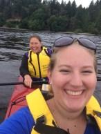 mom and I kayaking