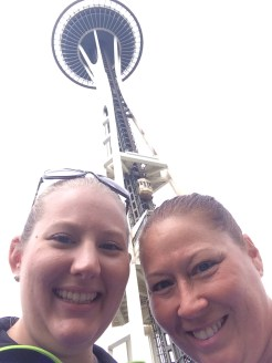 mom and I at the Space Needle
