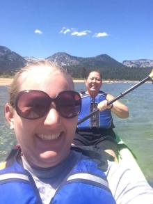 mom and I kayaking