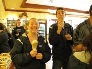 Jon and I eating ice cream