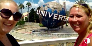 mom and I at Universal Studios