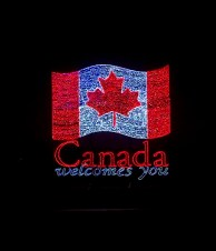 Canada Light Display