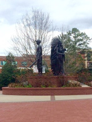 statues of the first black graduate and homecoming king of FSU
