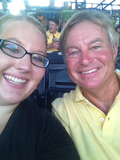 dad and I at the Pirates game