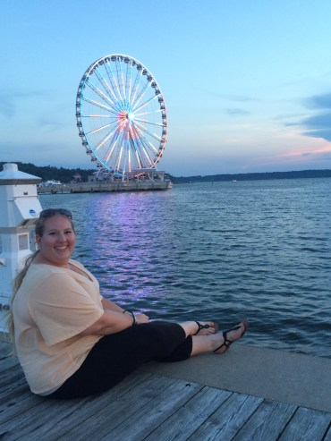 in front of the Capital Wheel