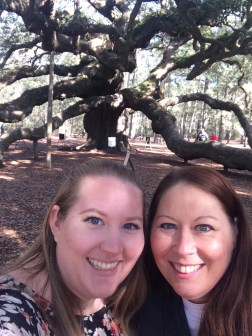 mom and I in front of the Angel Oak Tree