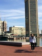 mom at the Inner Harbor