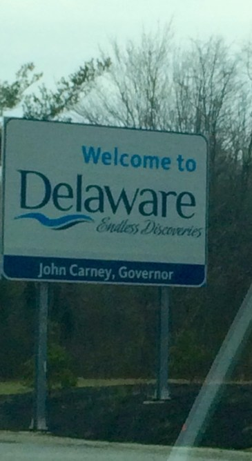 First time in Delaware!