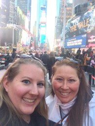 mom and I in Times Square