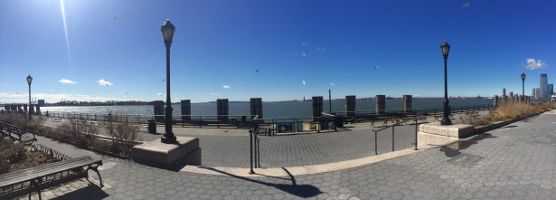 looking out at the Upper New York Bay