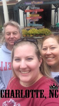 mom, dad, and I in Charlotte