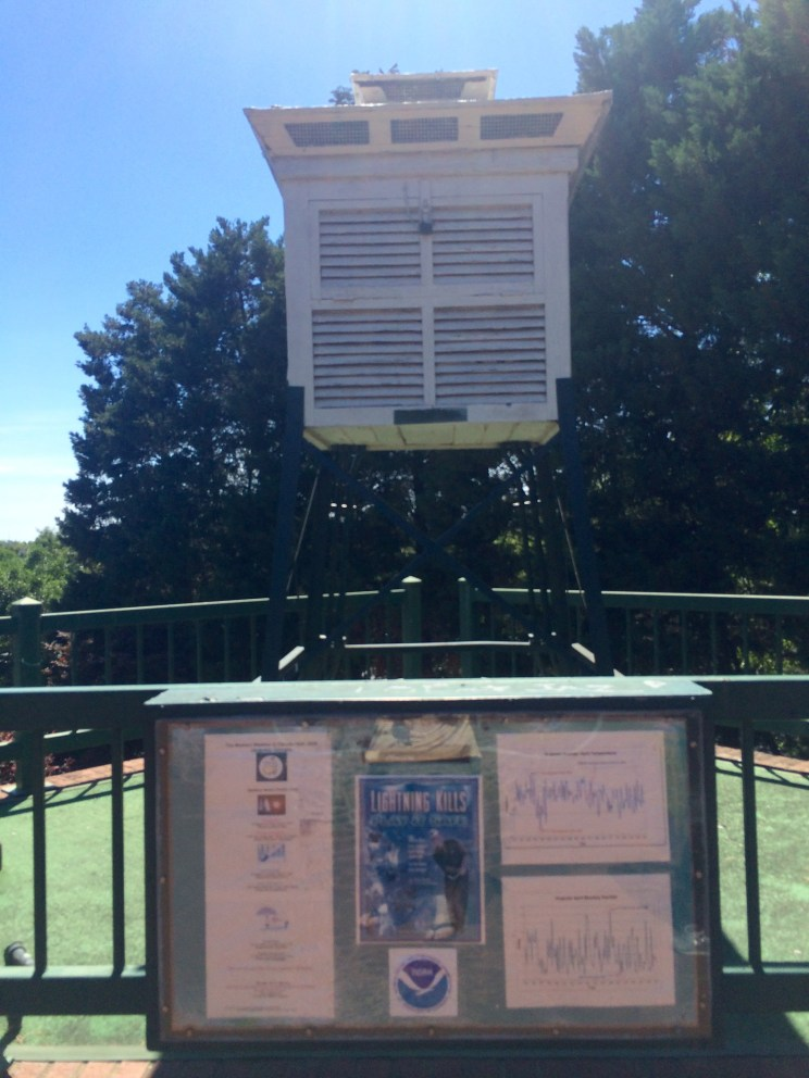 this box was near the Augusta Riverwalk and it reported the weather!