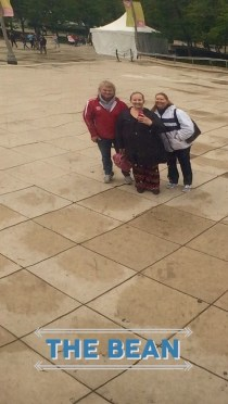 my parents and I refelcted in the bean