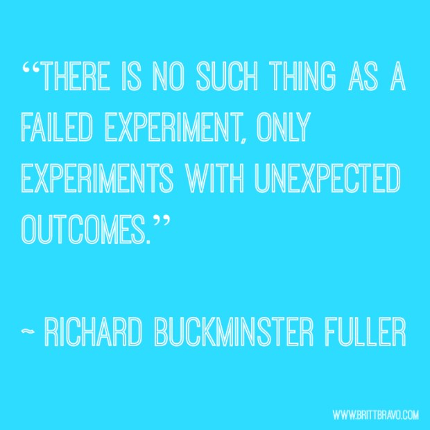 No such thing as a failed experiment