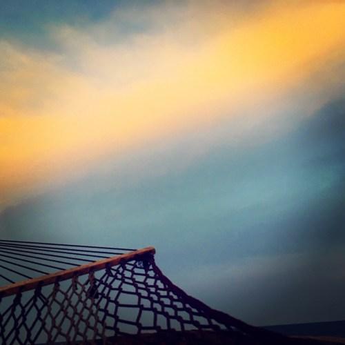 Beautiful sky and hammock