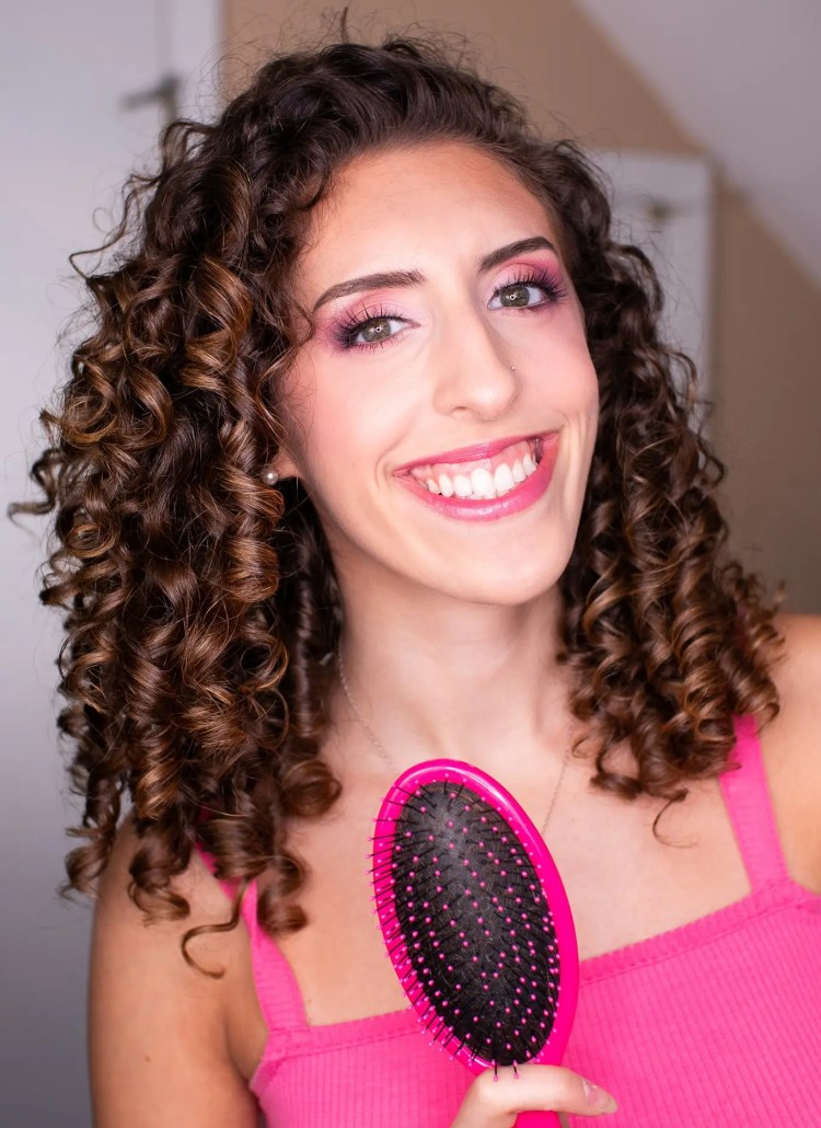 Side to Side Brush Styling: My Go-To Curly Hair Styling Routine