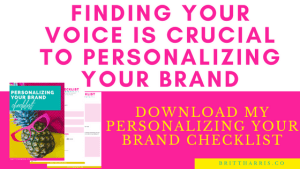 Personalizing Your Brand Checklist