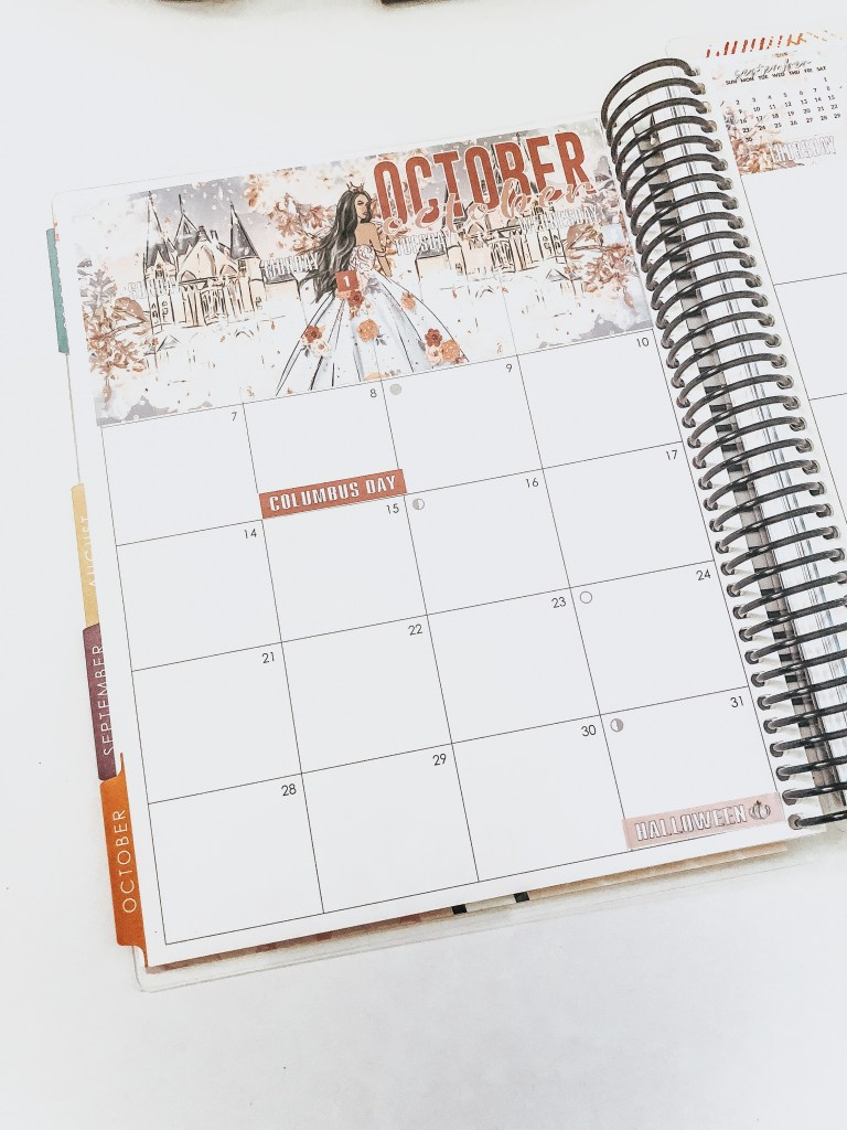How I Use My Erin Condren Deluxe Monthly Planner Monthly View