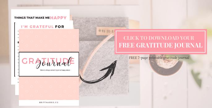 Free Printable Gratitude Journal
