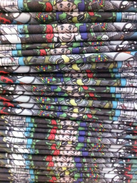 A large stack of printed Asteroid Belter comics.