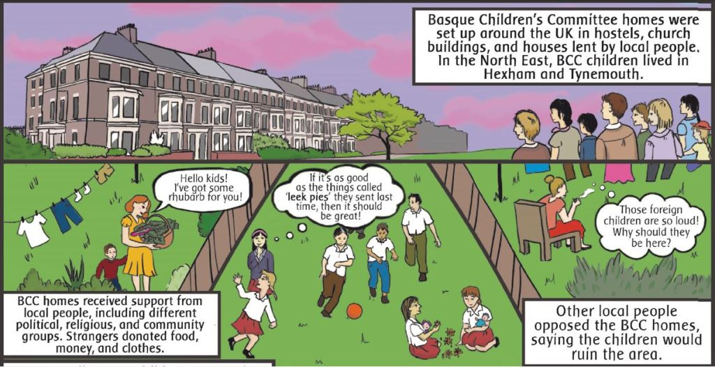 An extract from Freedom City Comics on Basque Childrens Committee